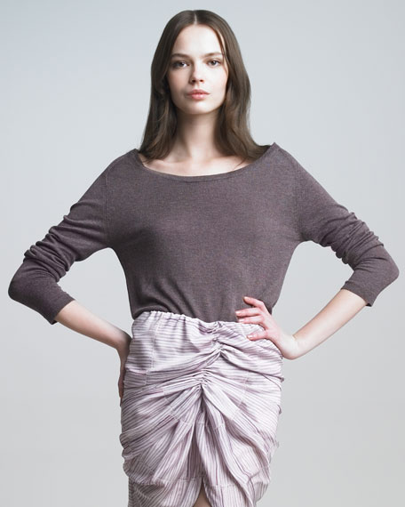 Long-Sleeve Boat-Neck Sweater