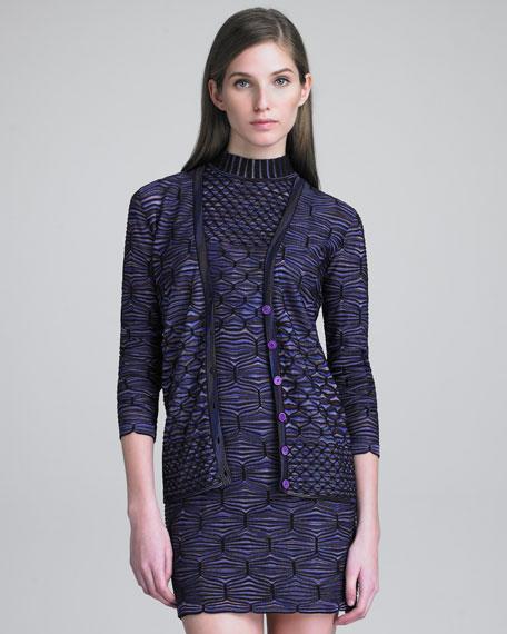 Space-Dye-Knit Cardigan