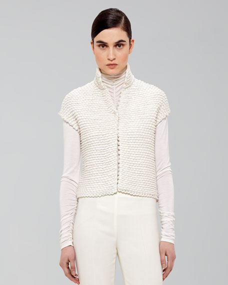 Cropped Cashmere Gilet