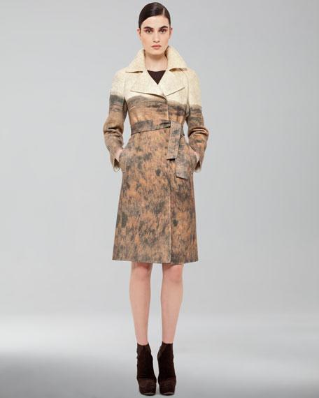 Printed Tie-Waist Coat
