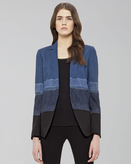 Ombre-Striped Jacket