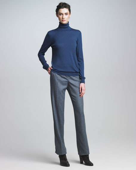 Chevron Cashmere Pants