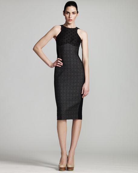Ottavia Contoured Jacquard Dress