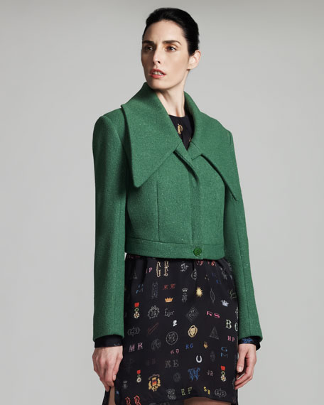 Cropped Spread-Collar Jacket