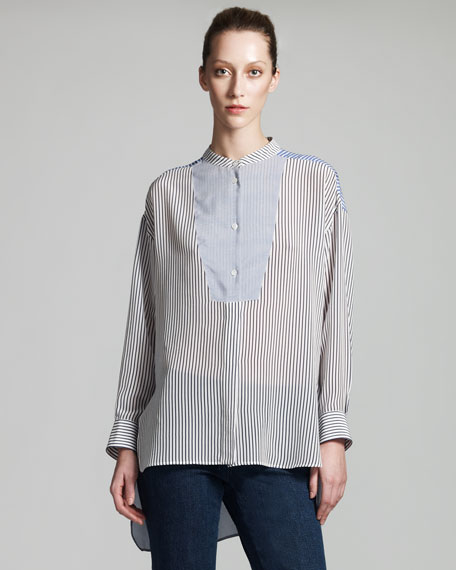 Striped Poplin Tunic