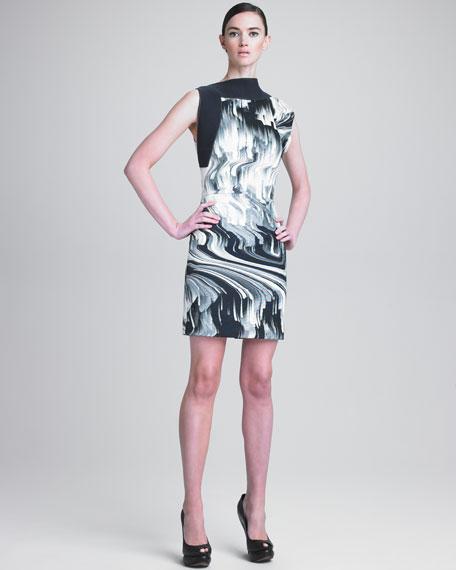 Ottoman Faille Sheath Dress