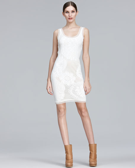 Lace Tank Dress, Cream