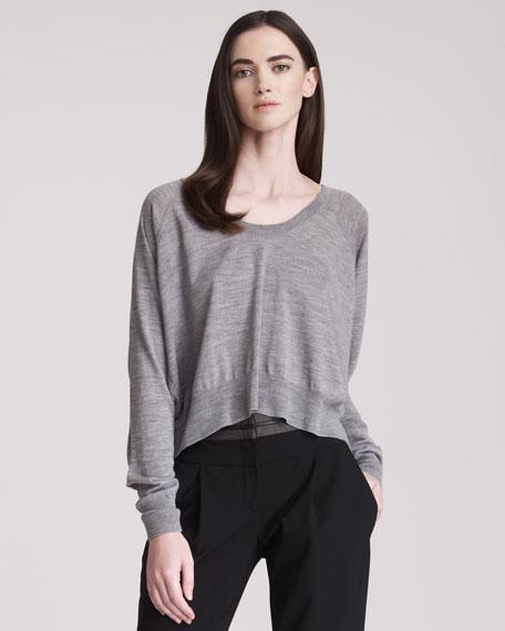 Cropped Merino Pullover