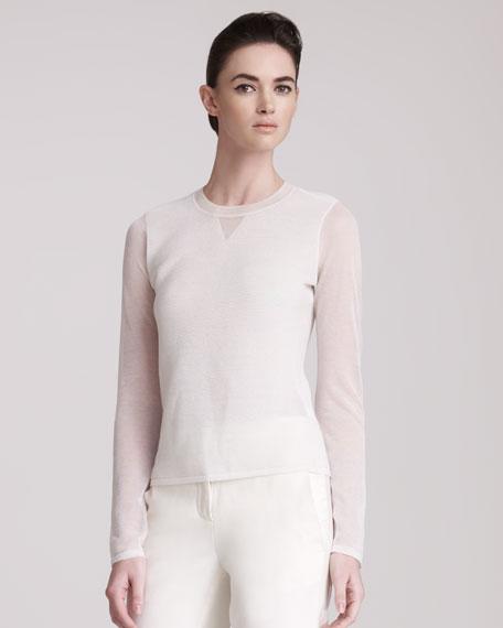 Crewneck Ottoman Sweater