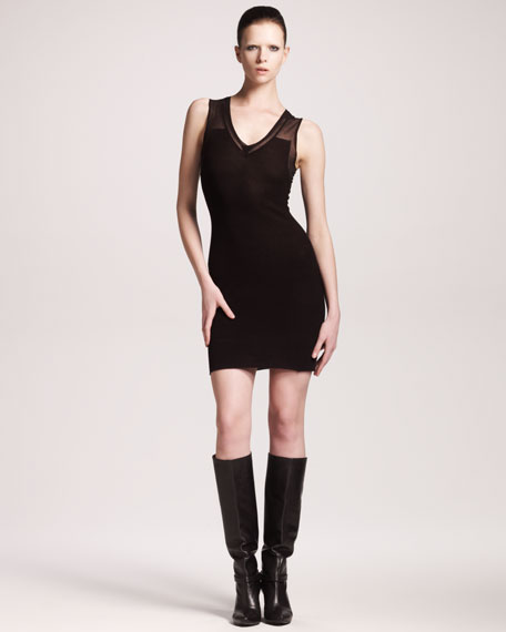 Floating Ottoman Sheath Dress