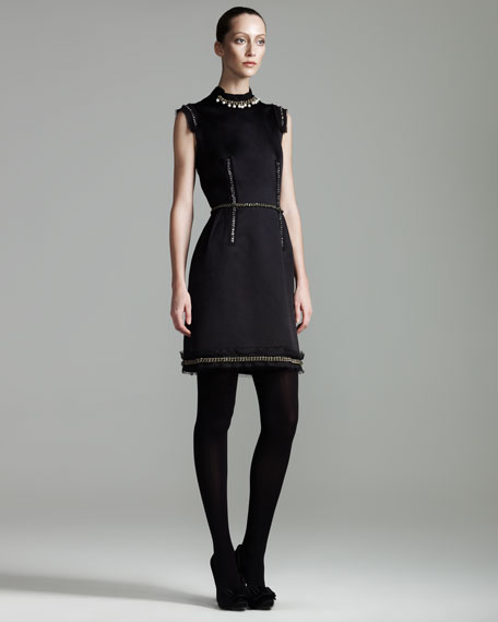 Chain-Detailed Dress
