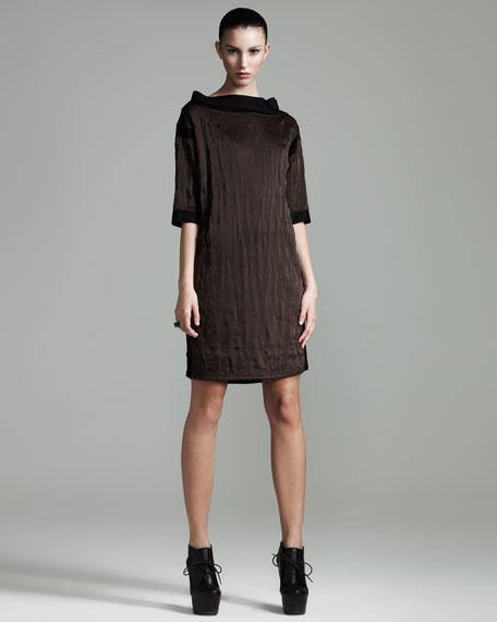 Heart-Textured Shift Dress