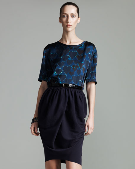 Draped Crepe Skirt