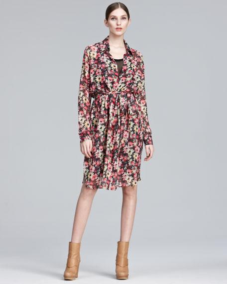Daisy-Print Shirtdress
