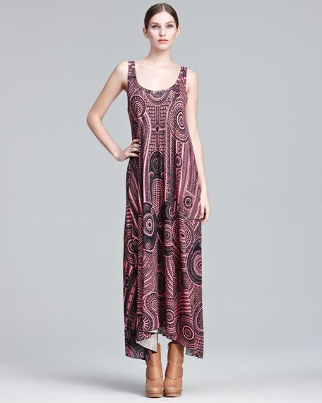 Printed A-Line Maxi Dress
