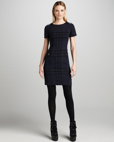 Check-Print Dress