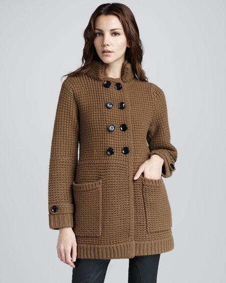 Mixed-Knit Cardigan