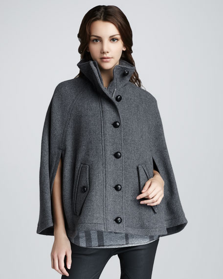 Button-Front Cape
