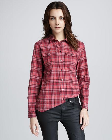 Two-Pocket Check Shirt
