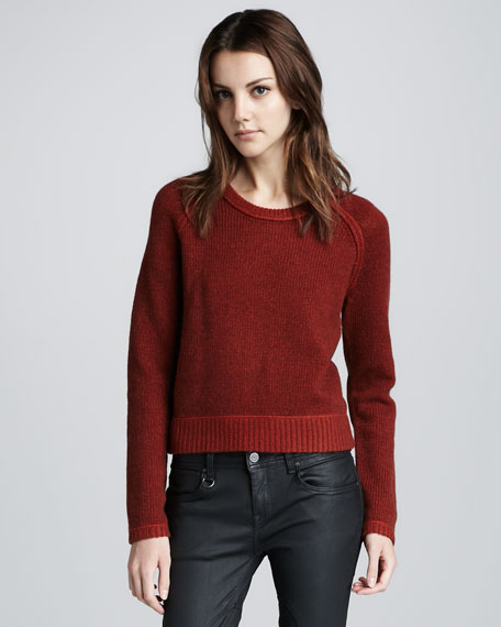 Plaited Cashmere-Blend Sweater