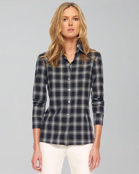 Taos Plaid Button-Front Shirt