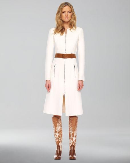 Melton Wool Belted Coat