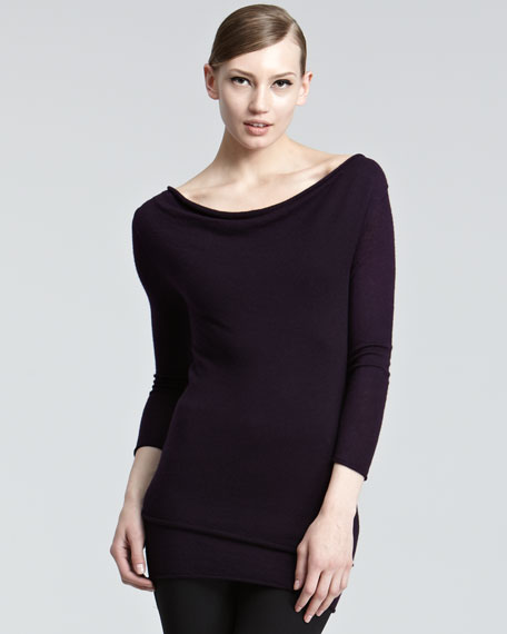 Double-Layer Cashmere Pullover