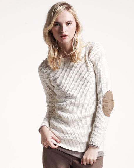 Ribbed Paillette Pullover
