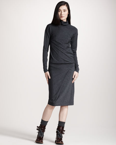 Drop-Waist Turtleneck Dress