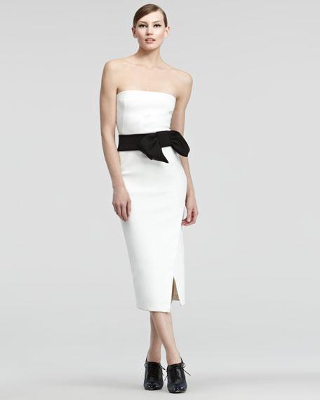 Contrast Satin Dress