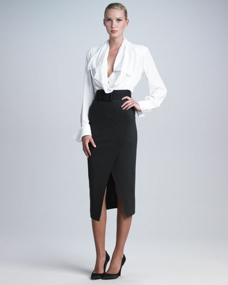 Pull-On Jersey Envelope Skirt