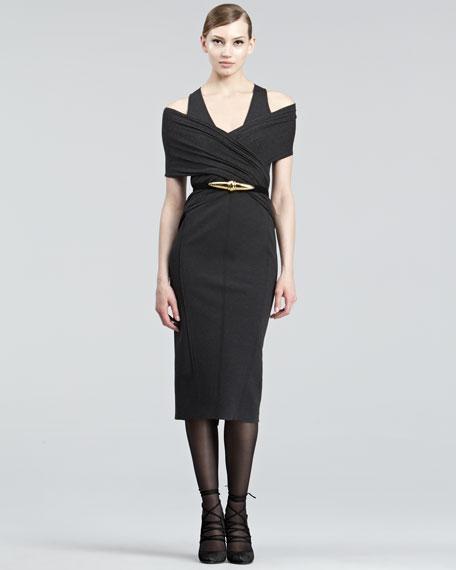 Cold-Shoulder Jersey Dress