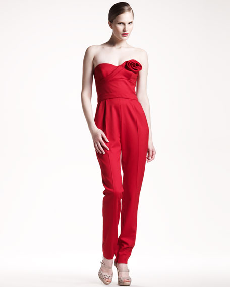 Techno Couture Strapless Jumpsuit
