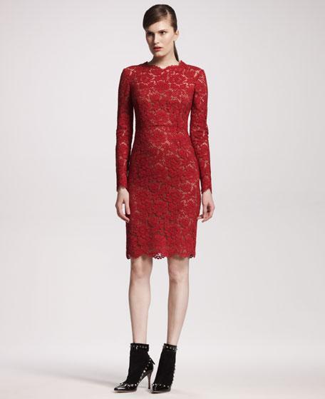 Bow-Back Lace Dress