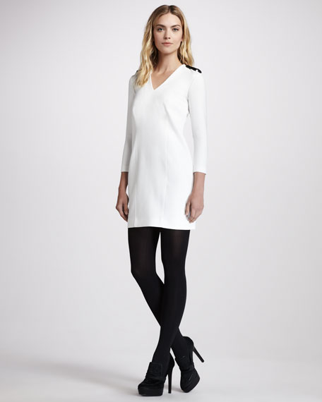 Epaulet Shift Dress