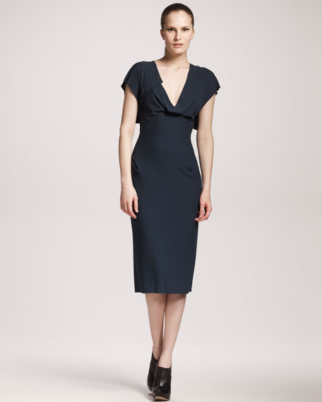 Gina Cap-Sleeve Dress