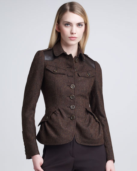 Tweed Peplum Blazer