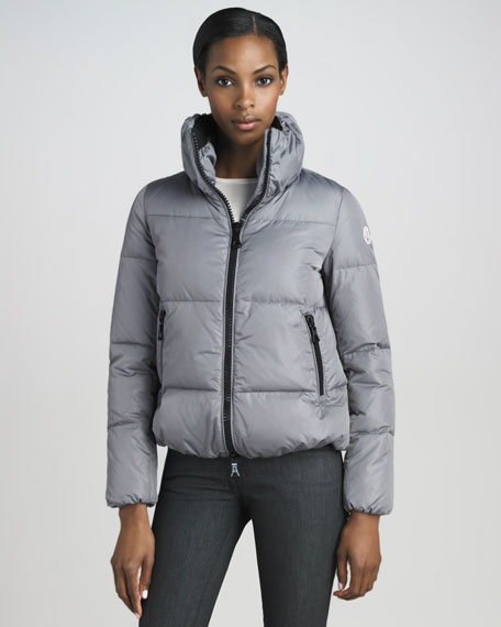 Short Blouson Puffer Jacket