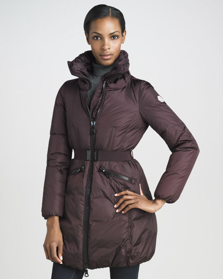 Mid-Length Blouson Puffer Coat