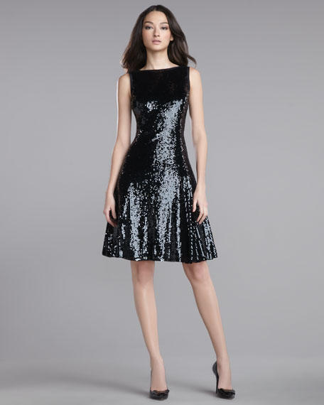 Sequined Swing Dress