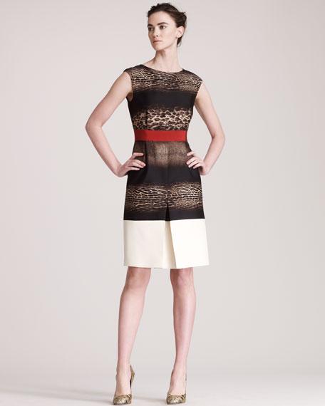 Mixed-Print Dress