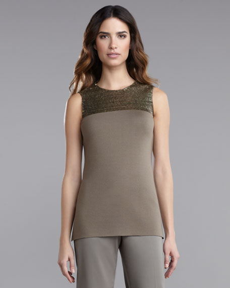 Milano Knit Sleeveless Tunic With Sequin Detail