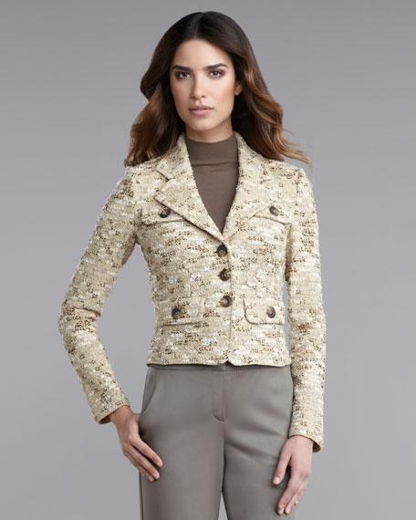 Tweed-Knit Jacket