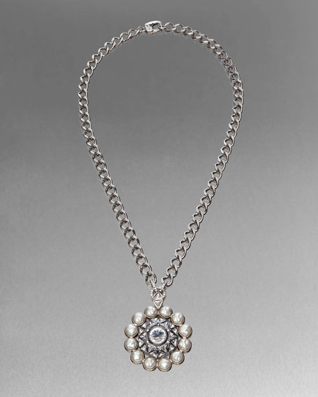 Baroque Pearl & Crystal Necklace