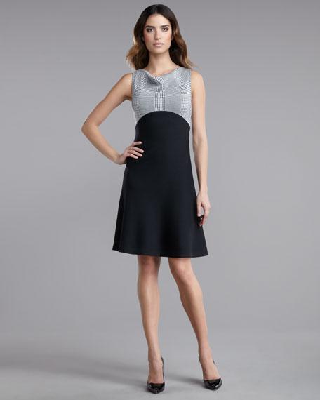 Milano Knit Cowl-Neck Dress