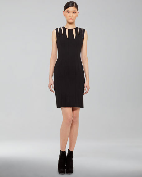 Zip-Detail Dress