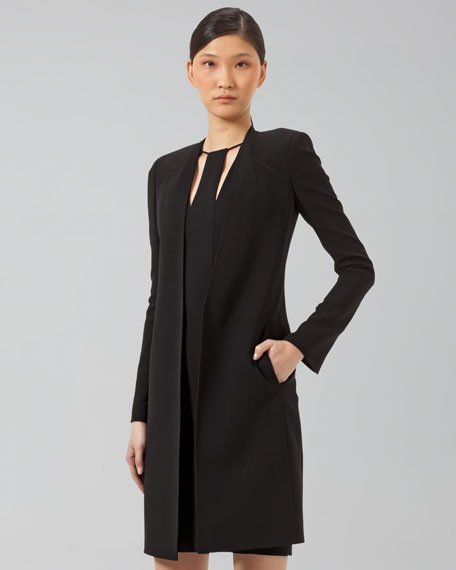 Long Double-Face Cardigan