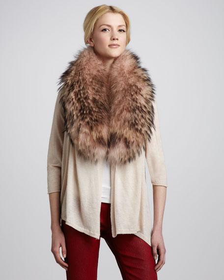 Izzy Fur-Collar Cardigan