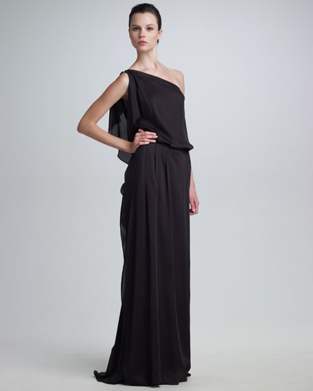 One-Shoulder Silk Gown