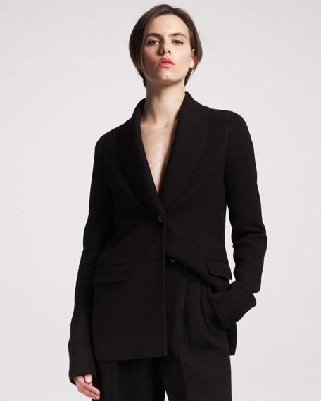 Knit Shawl-Collar Blazer